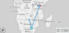 Golden Trails of East Africa 2021 - 8 destinations