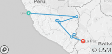 Real Peru to Bolivia (from Lima to La Paz) - 9 destinations