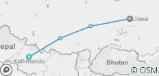 Group Joining Tibet Overland Tour from Kathmandu to Lhasa - 5 destinations