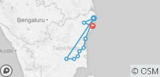 Chennai to Pondicherry Thanjore & Trichy (5 Day Tour) - 10 destinations