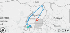 16 Days Gorilla Trekking, Big 5 & Big Cats Safari in Uganda & Rwanda - 9 destinations