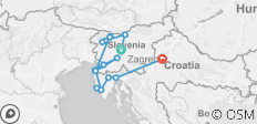 Jewels of Northern Croatia and Slovenia Ljubljana to Zagreb (2020) - 17 destinations