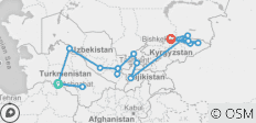 5 Stans - A Journey to Central Asia - 17 destinations