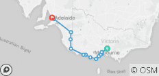 3 Day Melbourne to Adelaide - 14 destinations