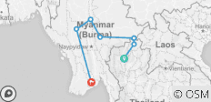 Northern Thailand to Myanmar – 10 Days - 8 destinations