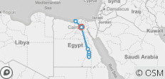 Egypt with Alexandria in 10 Days(4 Nights 5* Nile Cruise,Flights,Egyptologist,20 Sightseeing&20 Meals) - 9 destinations