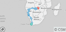 Cape, Namibia & Falls - 24 Days - 23 destinations