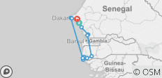 From Saloum River to Casamance River, 10 days  - 13 destinations