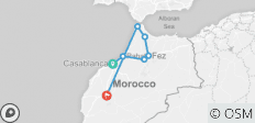 North Morocco Tour 9 Days - 7 destinations