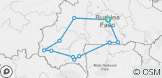 Round-trip Burkina Faso with Festima mask festival - 11 destinations