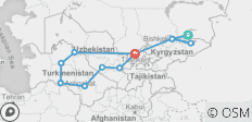Central Asia Tour 16 Days, Premium Option - 12 destinations