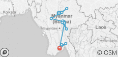 Myanmar Rundreise - 13 Destinationen