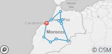 9 Days Private Tour from Casablanca visiting Chefchaouen, Fes, Merzouga and Marrakech - 12 destinations