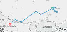 10 Days -Lhasa to Kathmandu Tour via Everest Base Camp - 8 destinations