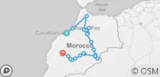 Morocco tour from Casablanca to Marrakesh via Chefchaouen, Fes and Desert - 21 destinations