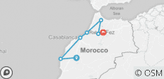 4 Days from Marrakech to Fes via Essaouira / Chefchaouen - 7 destinations