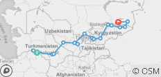 Trip to the Stans - Five Wonders of Central Asia, 2020 - 19 destinations