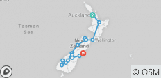 Rata Tour 16 Days North and South Islands - 16 destinations
