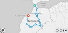 From Tangeir to Casablanca / Special private trip around Morocco in 8 days - 19 destinations