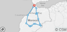 9 Days from Tangier visiting Chefchaouen, Fes, Marrakech, Casablanca & Rabat and more - 16 destinations
