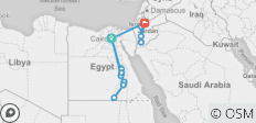 Cairo to Amman Tour & Ancient Egypt River Cruise - 15 destinations
