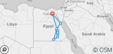 Magic of Egypt - Cairo Pyramids - Luxury Cruise - Red Sea Beach - 12 Days - 12 destinations