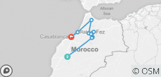 7 Days from Marrakech to Casablanca discovering Fes, Chefchaouen and more - 9 destinations