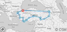 East to West, 17 Days - 29 destinations