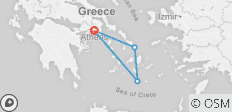 3 Day Islands Hopping to Santorini, Mykonos, Delos Cruise & Sunset to Volcano - 4 destinations
