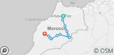 3 Day fes to Marrakech desert tour - 12 destinations