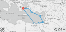 Athens Escape plus 7- night 3 Continents Cruise - 10 destinations