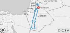 Antikes Jordanien - 13 Destinationen