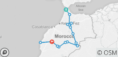 10 Days from Tangier to Desert and Marrakech - 16 destinations