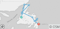 Newfoundland & Labrador West to East - 13 destinations
