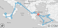 Southern Italy & Greece with 4 - Night Cruise - 28 destinations