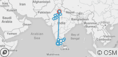 India South & North - 17 destinations