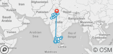 India South & North - 22 destinations