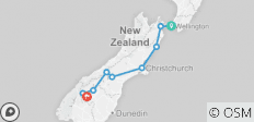 7 Day - South Island Tour (All inclusive with activities) - 9 destinations