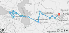 Tbilisi To Tashkent Overlander - 34 Days - 24 destinations