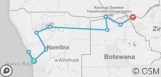 Namibia, Botswana and Falls - 15 days - 10 destinations