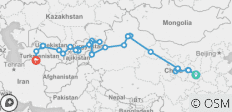 Highlights of the Silk Road Westbound - 56 Days - 40 destinations