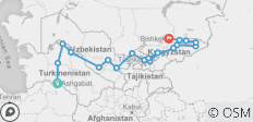 Central Silk Road Overlander - 30 Days - 19 destinations