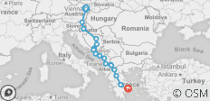 From Austria to Greece - 17 destinations