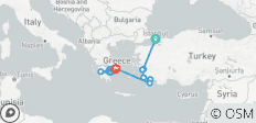 Istanbul, Athens and Peloponnese - 14 destinations
