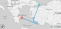 Istanbul to Athens - 7 destinations