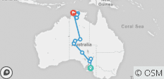 Adelaide to Darwin Overland - 18 destinations