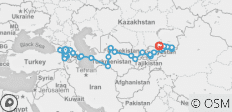 Caucasus To Kyrgyzstan - 49 Days - 34 destinations
