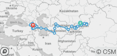 Kyrgyzstan to Caucasus - 49 Days - 32 destinations