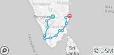 Amazing  South India tour with Karnataka & Kerala & Pondicherry and Tamilnadu - 14 destinations