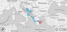 Dalmatia and the Adriatic by land and sea  - 17 destinations